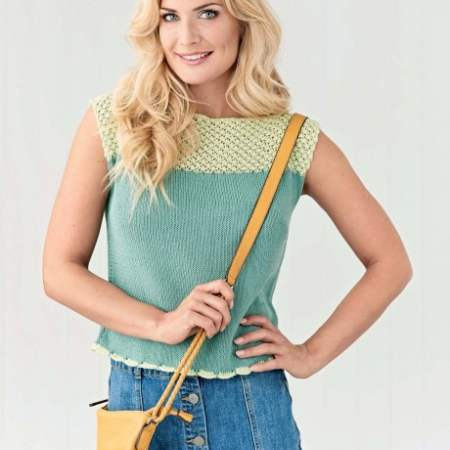 Easy Lace T-Shirt Knitting Pattern