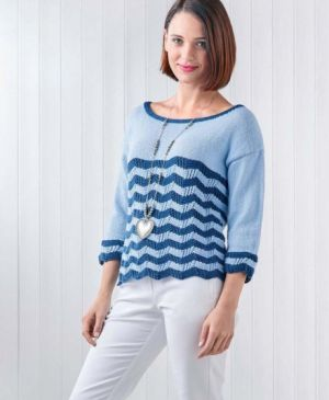 Nautical Chevron Summer Sweater
