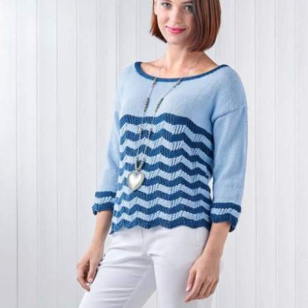 Nautical Chevron Summer Sweater Knitting Pattern