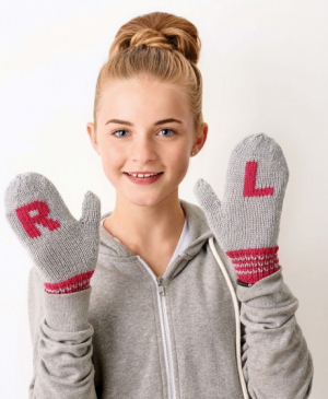 Letter Mittens For The Big Christmas Cast On