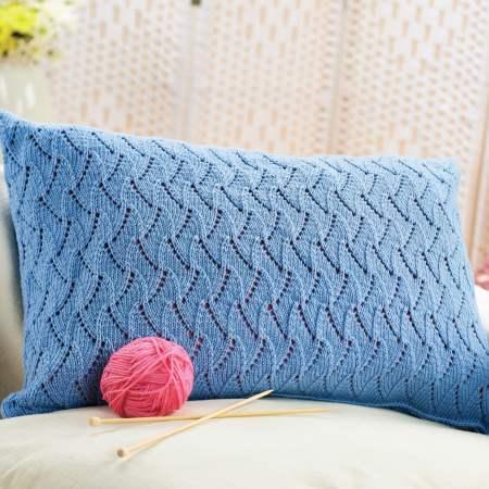 Lace cushion   Free Knitting Patterns   Let's Knit Magazine