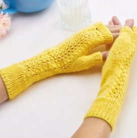 Lacy Fingerless Mitts