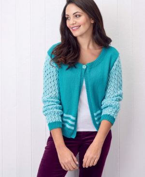 Lacy Sleeved Cardigan