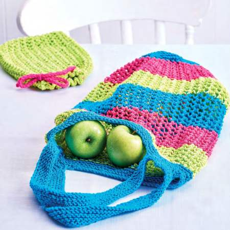 Eco-friendly Easy Market Bag & Pouch Knitting Pattern