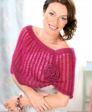 Broomstick crochet shrug