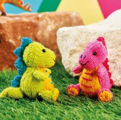 Mini Stegosauruses Knitting Pattern