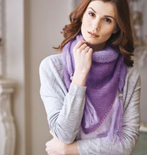 Simple mohair shawl