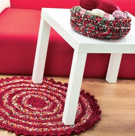 Chunky crochet basket and rug