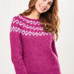 No-Sew Yoke Jumper Knitting Pattern