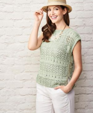 No-shaping Lace Top