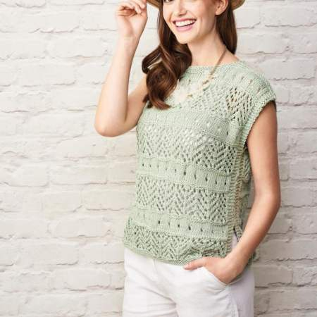 No-shaping Lace Top Knitting Pattern