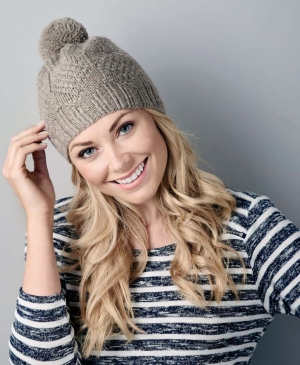 Easy knit & purl bobble hat