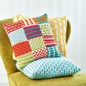 Patchwork Slip Stitch Sampler Cushion
