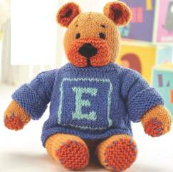 Personalised Teddy Bear Knitting Pattern