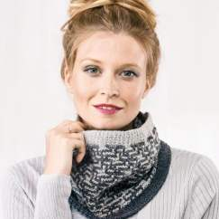 Learn To Knit A Geometric Cowl Knitting Pattern