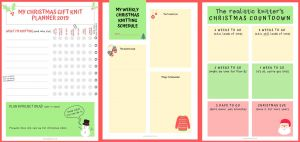 Christmas Knitting Planners