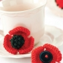 Remembrance Poppy Brooches