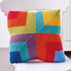 Colour Pop Rainbow Cushion Knitting Pattern