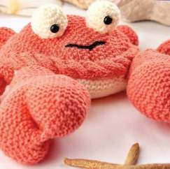 Knitted Crab Knitting Pattern