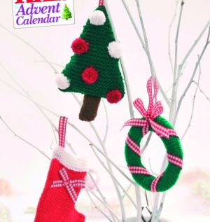 Quick Knit Christmas Card Decorations