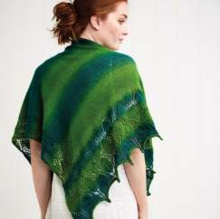 Lace Shawl Evergreen Dream
