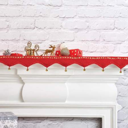 Christmas Shelf Runner Knitting Pattern