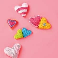 Simple Hearts Knitting Pattern