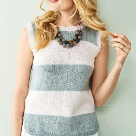 Simple Stripy Top Knitting Pattern