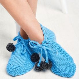 Learn To Knit Slippers