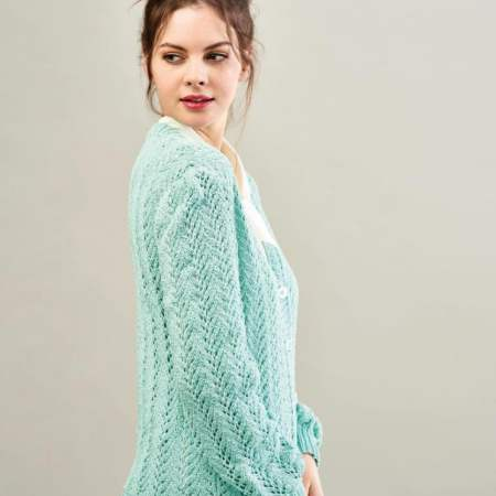 Smart Lace Cardigan Knitting Pattern