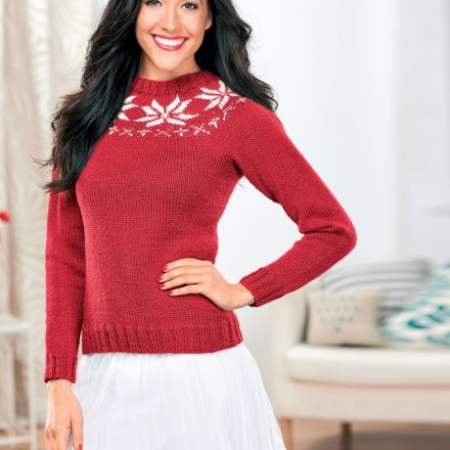 Snowflake Christmas Jumper Knitting Pattern