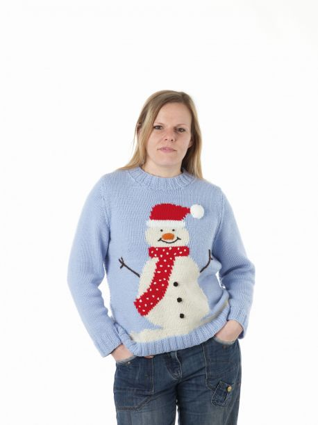 Large Adult Snowman Sweater