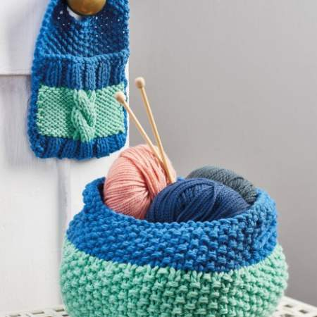 Easy Chunky Storage Knitting Pattern