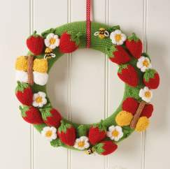 Strawberry Wreath Knitting Pattern