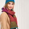 Stripy Textured Scarf and Hat