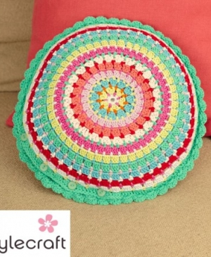 Stylecraft Crochet Cushion