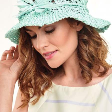 Paper Knitted Sunhat Knitting Pattern