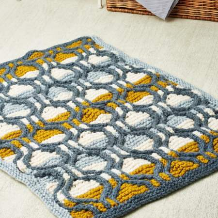 Super Chunky Cable Rug Knitting Pattern