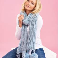 Super Chunky Fisherman's Rib Scarf - Knitting Pattern