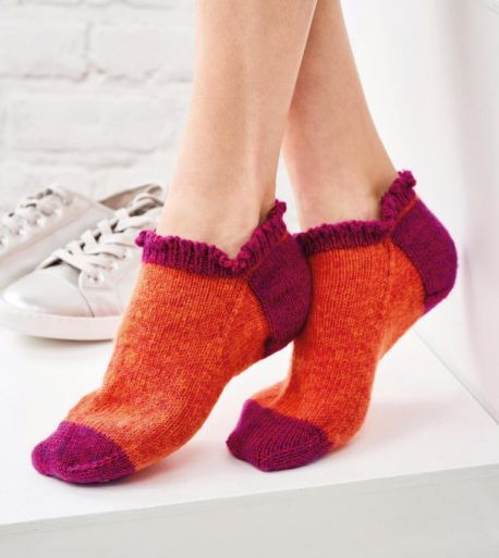 Easy Frill Trainer Socks