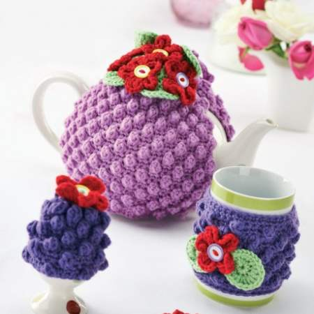 Floral Cosy Set Knitting Pattern