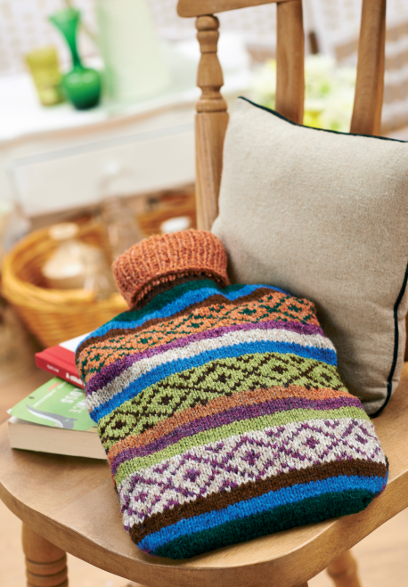 Fair Isle hot water bottle