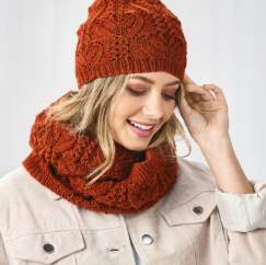 Vine Stitch Lace Hat And Cowl