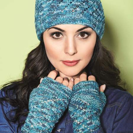 Vionette lace hat and gloves Knitting Pattern