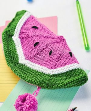 Watermelon Pencil Case and Pineapple Purse