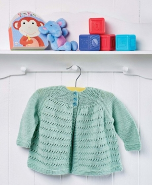 Yoke Baby Cardigan For The Big Christmas Cast On
