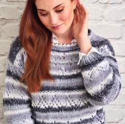Zig-zag Eyelet Jumper Knitting Pattern