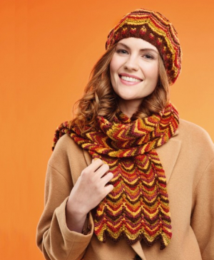 Zigzag Hat and Scarf