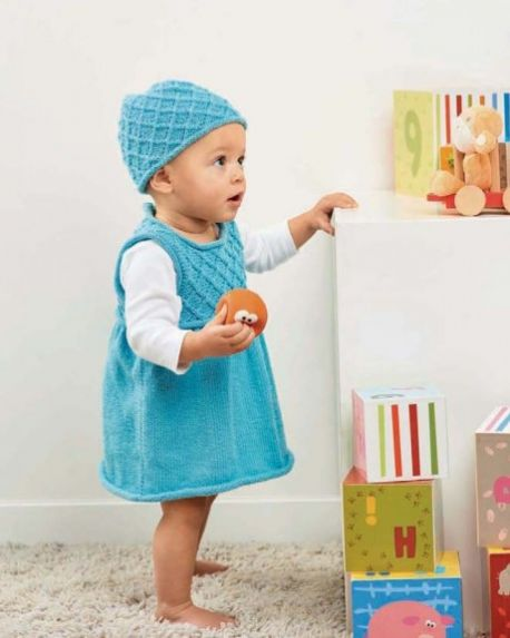 Classic Style Baby Dress and Hat