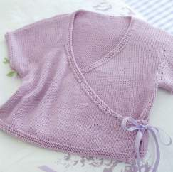 Child Ballet Wrap Cardigan Knitting Pattern